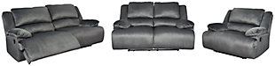 Clonmel Sofa, Loveseat and Recliner, Charcoal, large