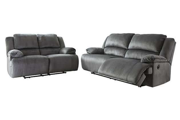 Clonmel Sofa and Loveseat, Charcoal, large