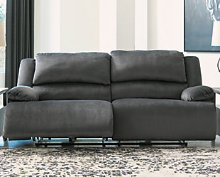 Clonmel Power Reclining Sofa, Charcoal, rollover