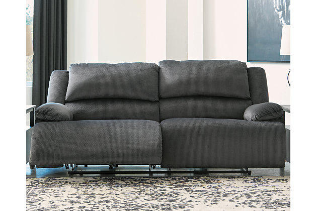Clonmel Power Reclining Sofa, Charcoal, large