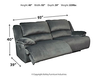 Clonmel Reclining Sofa, Charcoal, large