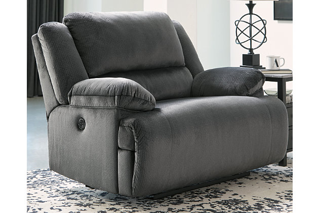 Clonmel Oversized Power Recliner, Charcoal, large