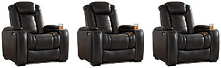 Party Time 3-Piece Home Theater Seating, Midnight, large