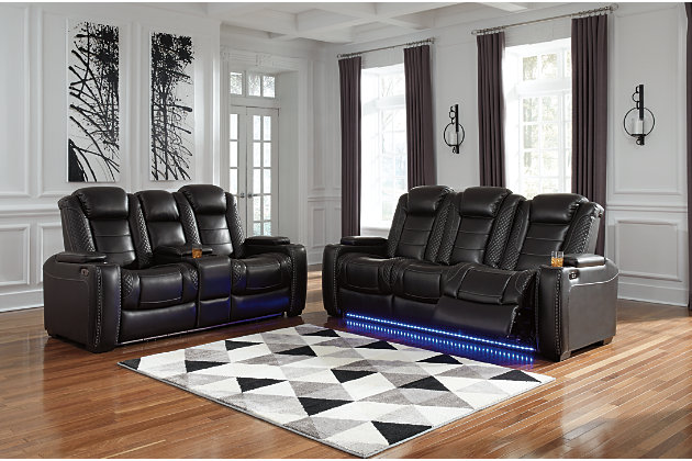 Party Time Sofa and Loveseat, Midnight, large