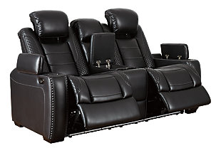 Party Time Power Reclining Loveseat with Console, , large