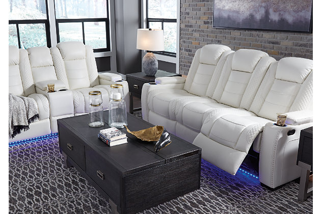Party Time Sofa and Loveseat, White, large