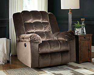Minturn Power Recliner, Mocha, large