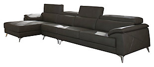 Tindell 3-Piece Sectional with Chaise, Gray, large