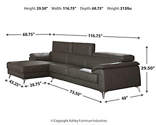 Tindell 2-Piece Sectional, Gray, large