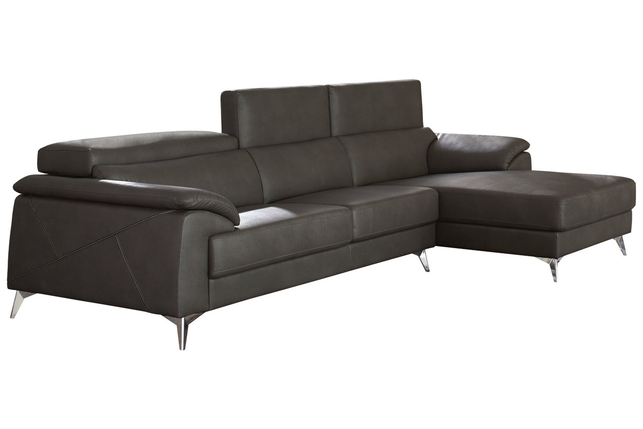 Superb Tindell 2 Piece Sectional With Chaise Ashley Furniture Customarchery Wood Chair Design Ideas Customarcherynet