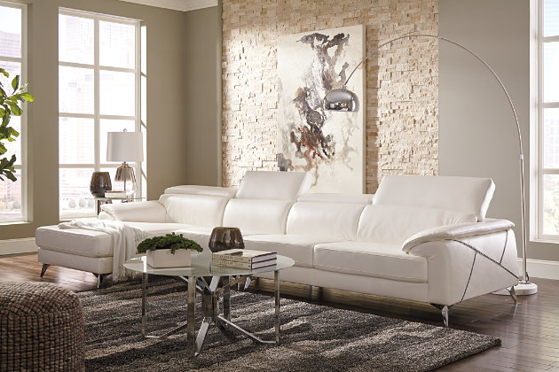 Tindell 3-Piece Sectional, White, large