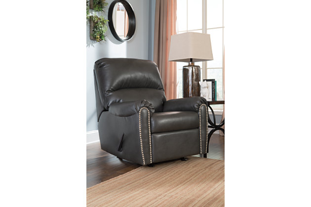 Rocker recliner in modern slate gray  sc 1 st  Ashley Furniture HomeStore & Lottie DuraBlend® Recliner | Ashley Furniture HomeStore islam-shia.org