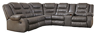 Walgast 2-Piece Reclining Sectional, Gray, large