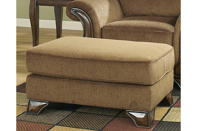 Montgomery Ottoman by Ashley HomeStore, Tan, Polyester (100 %)