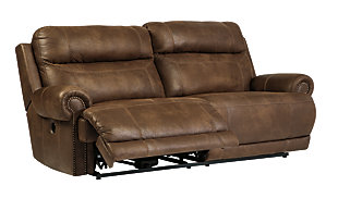 Austere Sofa and Loveseat, Brown, large