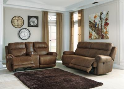 Loveseat Brown Leather Sofa Product Photo 177