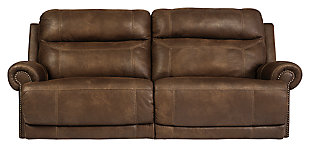 Austere Reclining Sofa, Brown, large