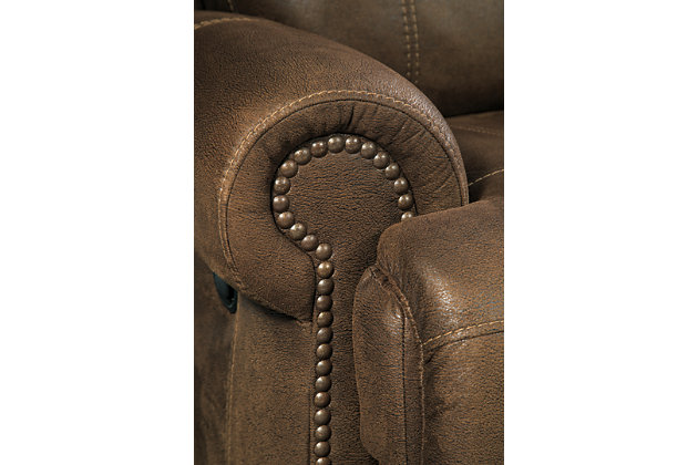 Austere Power Reclining Sofa, Brown, large