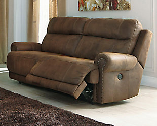 Austere Power Reclining Sofa, Brown, rollover