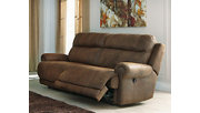 Austere Reclining Sofa, Brown, rollover