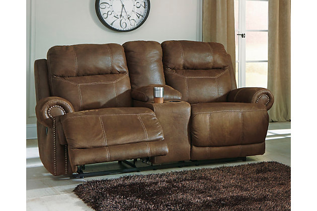 Home; Austere Reclining Loveseat with Console. Living room decorating idea  sc 1 st  Ashley Furniture HomeStore : double reclining loveseat - islam-shia.org