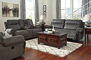 Austere Oversized Recliner, Gray, large