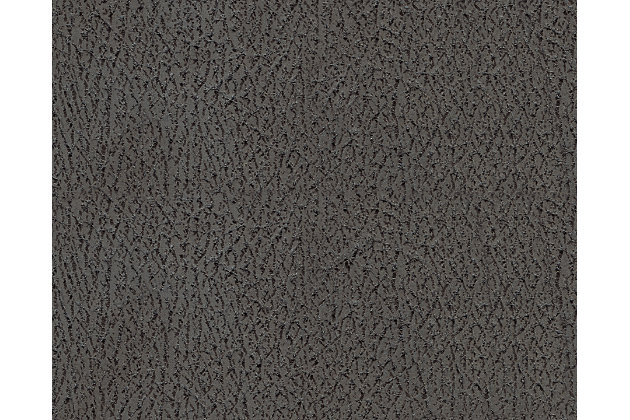 Austere collection gray faux leather body fabric swatch