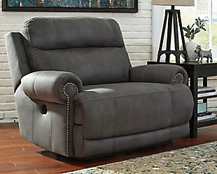Austere Oversized Power Recliner, Gray, large