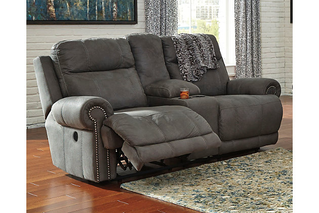 Home; Austere Power Reclining Loveseat with Console. Living room decorating idea  sc 1 st  Ashley Furniture HomeStore & Austere Power Reclining Loveseat with Console | Ashley Furniture ... islam-shia.org