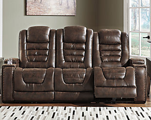 Game Zone Power Reclining Sofa, , rollover