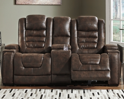 Game Zone Power Reclining Loveseat with Console, , large