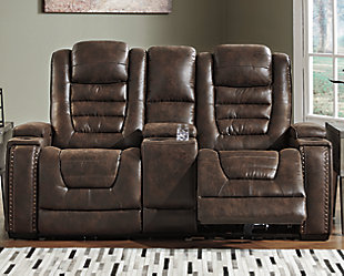 Game Zone Power Reclining Loveseat with Console, , rollover