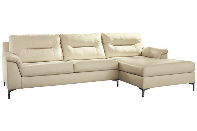 Tensas 2-Piece Sectional with Chaise, Ice, large