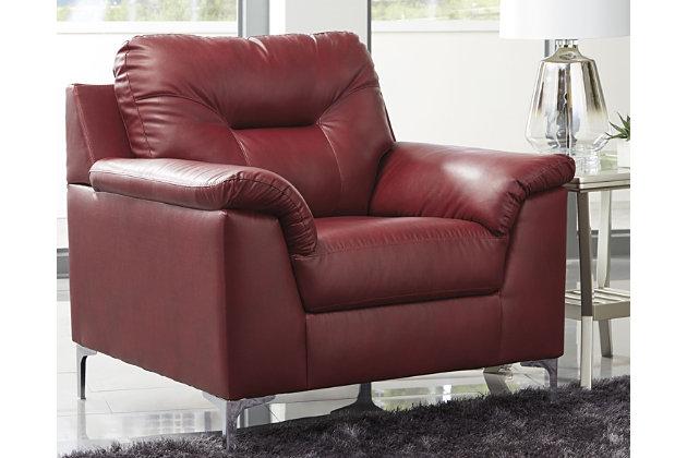 Tensas Chair, Crimson, large
