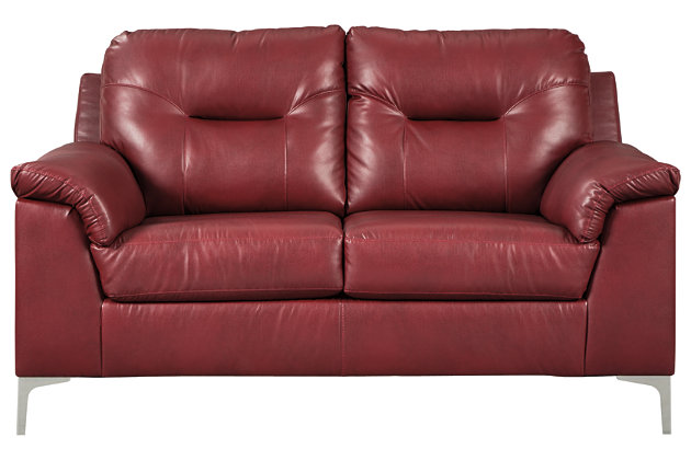 Tensas Loveseat, Crimson, large