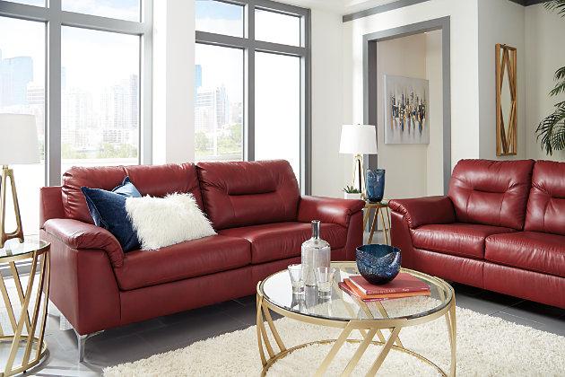 Tensas Sofa, Crimson, large