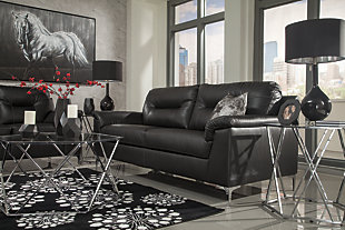 Tensas Sofa, Black, large