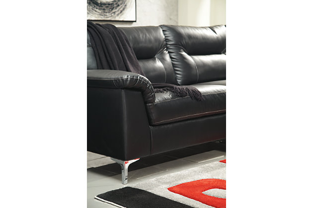 Tensas 2-Piece Sectional with Chaise, Black, large