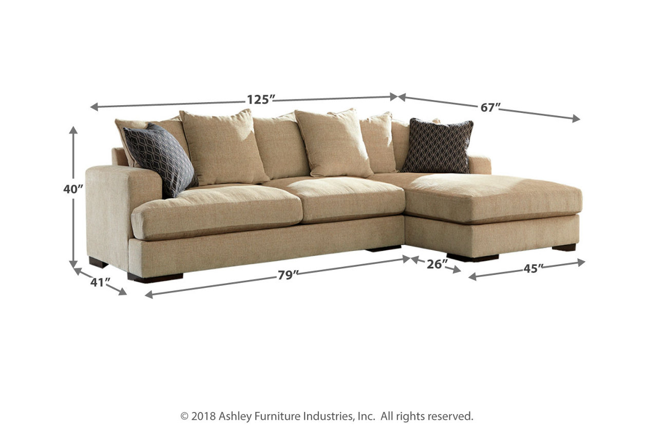 Aquaria 2 Piece Sectional With Chaise