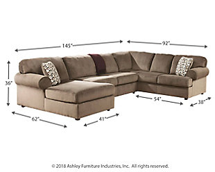 Jessa Place 3 Piece Sectional With Chaise Ashley Furniture Homestore