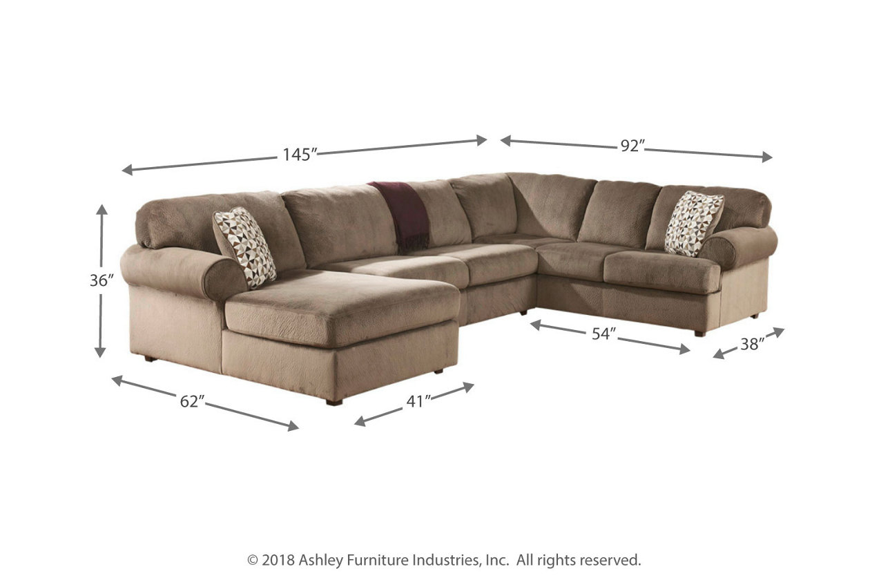 Jessa Place 3 Piece Sectional With Chaise Ashley Furniture