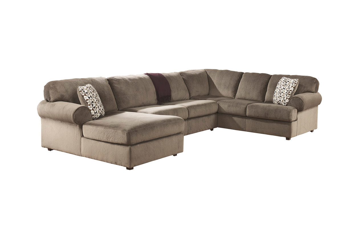 ashley pewter piece left sectional htm l microfiber jessa chaise dune kit place in