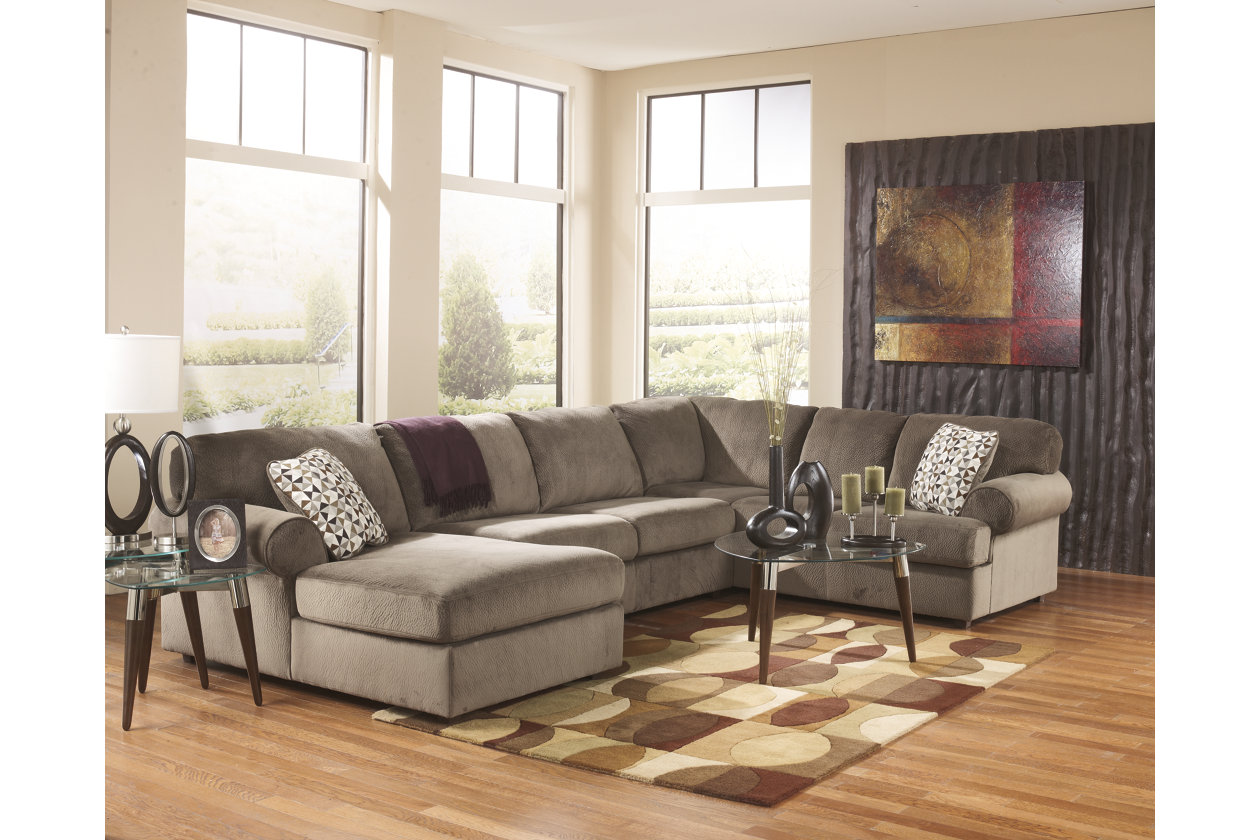 living room furniture sectionals.  large Jessa Place 3 Piece Sectional Dune rollover Sofas Ashley Furniture HomeStore