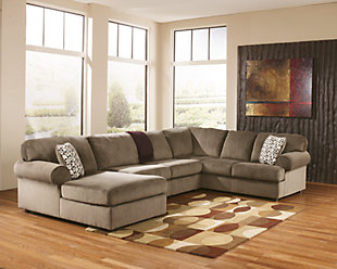 Jessa Place 3-Piece Sectional with Chaise, Dune, large