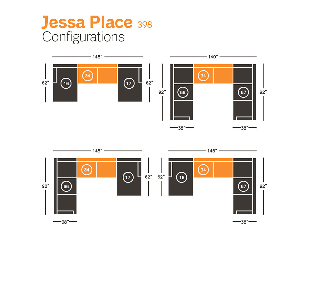dune brown armless loveseat piece from the jessa place sectional collection