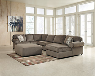Jessa Place 3-Piece Sectional with Ottoman, Dune, rollover