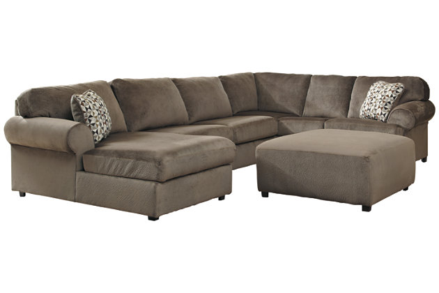 Awesome Jessa Place 3 Piece Sectional With Ottoman Ashley Gmtry Best Dining Table And Chair Ideas Images Gmtryco