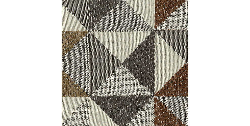 Gray Brown Triangle Pattern Fabric Swatch