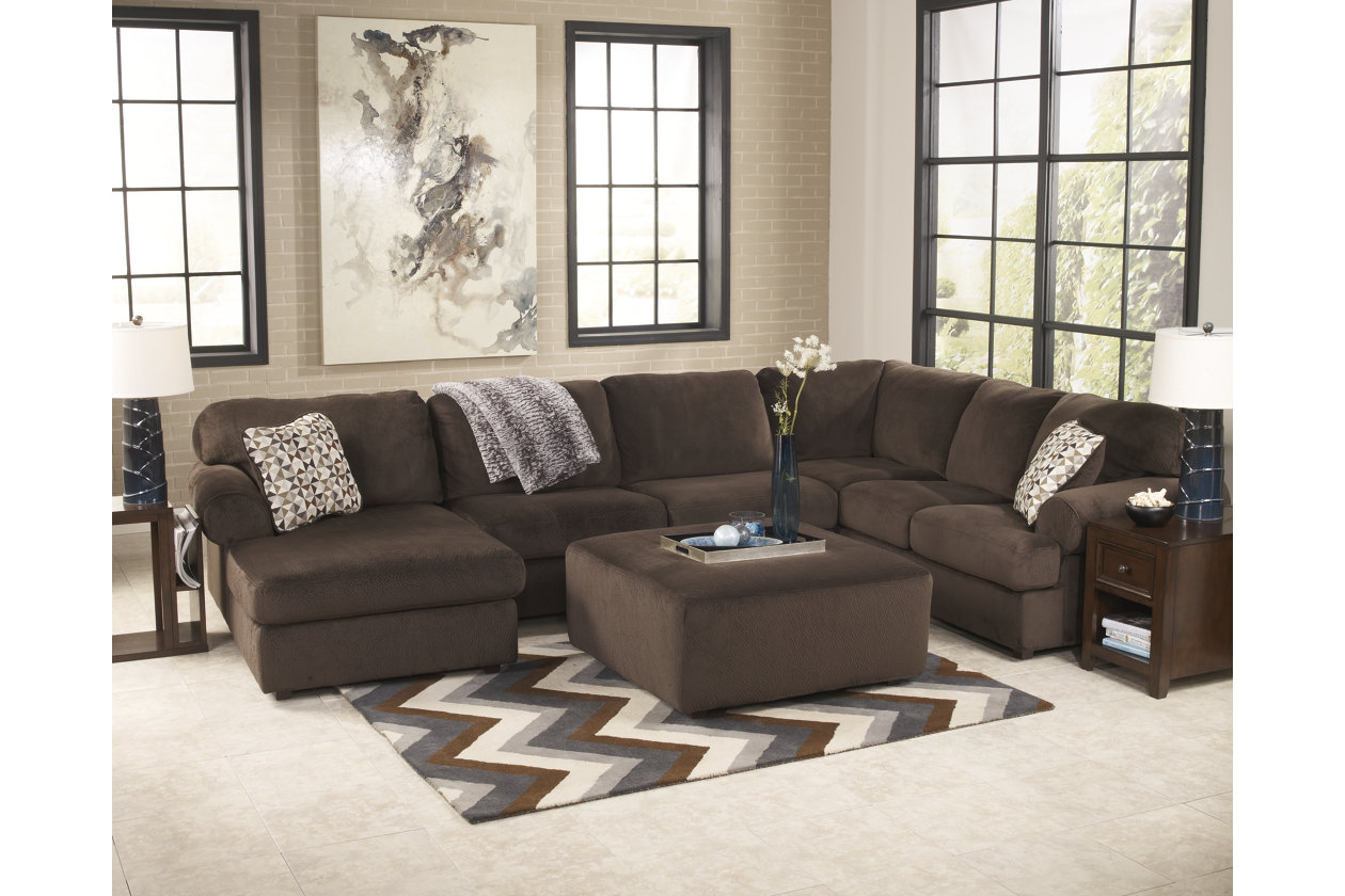 Sensational Jessa Place 3 Piece Sectional With Ottoman Ashley Gmtry Best Dining Table And Chair Ideas Images Gmtryco