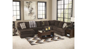 Jessa Place 3-Piece Sectional with Chaise, Chocolate, rollover